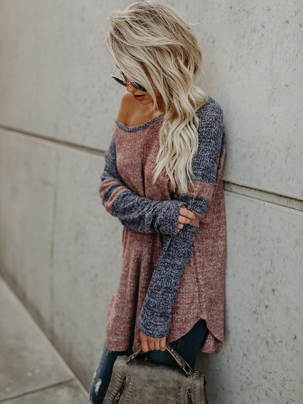 Fashion Long Sleeves V-neck Sweater Tops