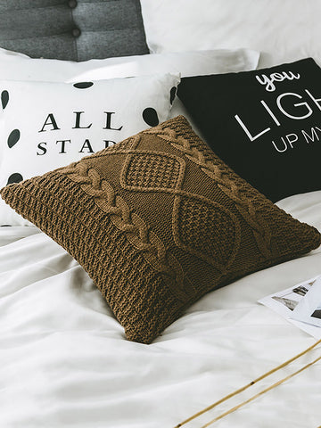 Tasseled Knitted Pillow Case Decoration Accessories