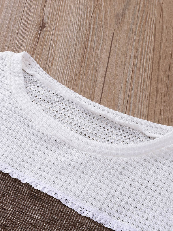 Loose Hollow Split-joint Knitting Sweater
