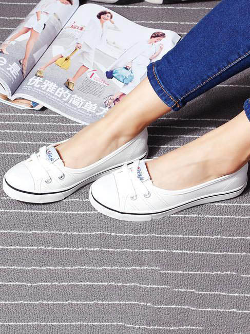 Low Top Canvas Slip-on Shoes