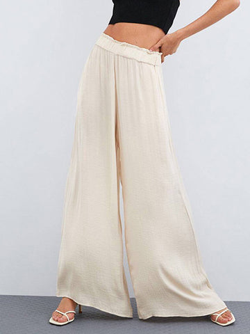 Casual Rivet holes Sleeveless Wide Leg Chic Jumpsuits
