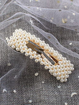 Ins Style Faux Pearl Hair Clip