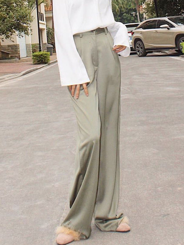 High Waist Comfortable Satin Pants