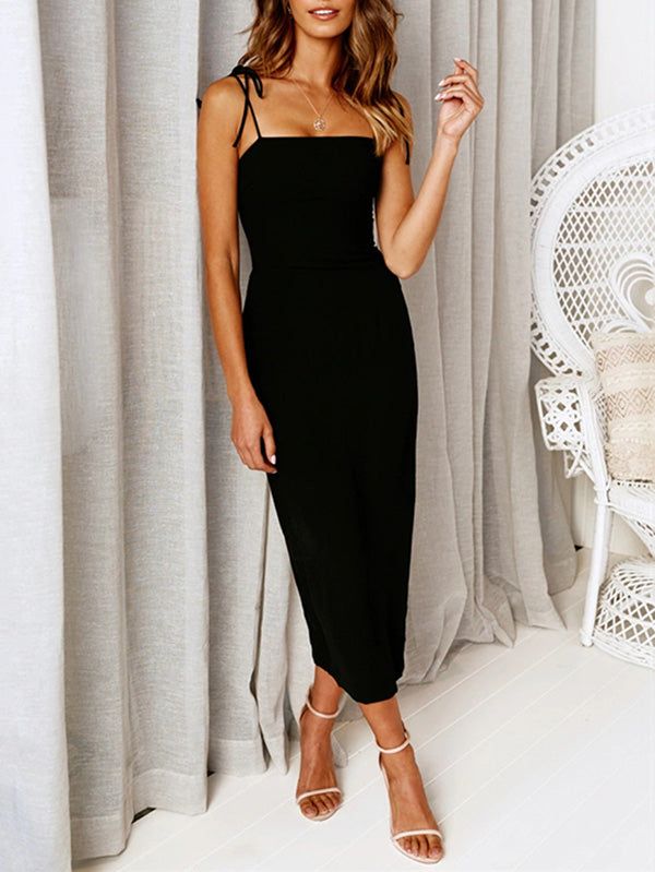 Hot Selling Sleeveless Simple Midi Dress