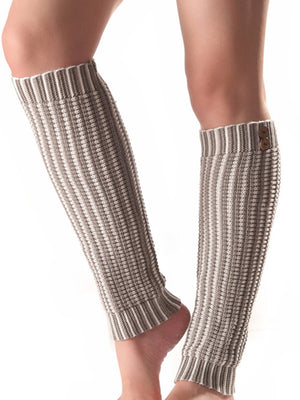 Striped 5 Colors Knitting Over Knee-high Stocking