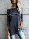 Ruffled Off-the-shoulder Blouses&Shirts Tops