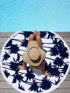 Beautiful Hamburger Vacation Round Scarve Shawl Beach Mat