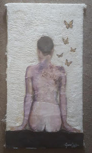 Monarch Girl 38' x 20'. 21st Century artwork