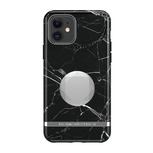 Richmond & Finch Case Black Marble + Matching PopGrip