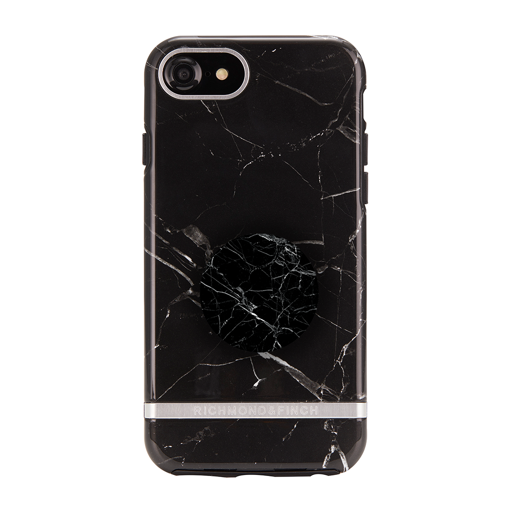 Richmond & Finch Case Black Marble + Matching PopGrip, PopSockets