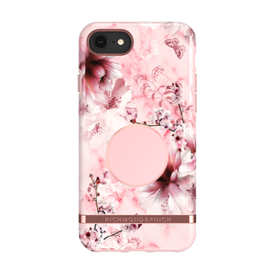 Richmond & Finch Case Pink Marble Floral + Matching PopGrip