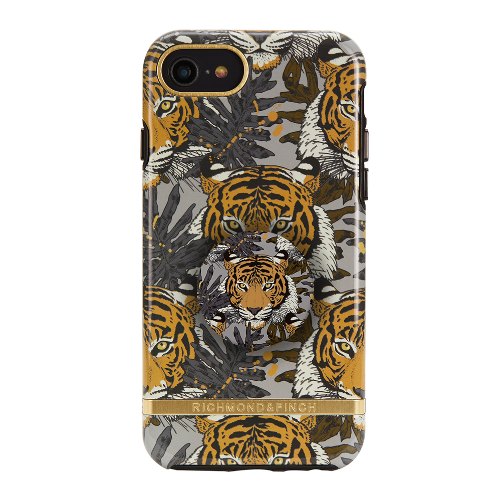 Richmond & Finch Case Tropical Tiger + Matching PopGrip, PopSockets