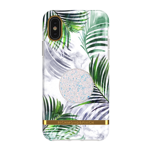 Richmond & Finch Case White Marble Tropics + Matching PopGrip