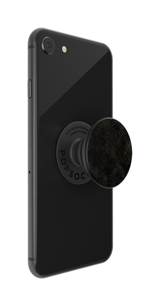 Black Vegan Leather, PopSockets