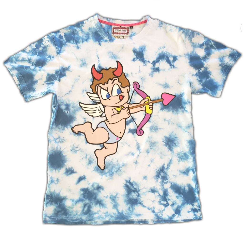 Mischievous Cupid Tee - Bleu Cloud