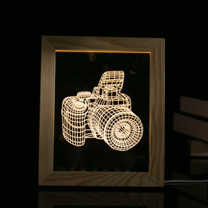 3D Photo Frame Illuminating LED Camera Decorative Lamp  BabuBunny