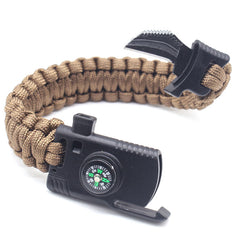 4 In 1 Survival Outdoor Emergency Paracord Bracelet
