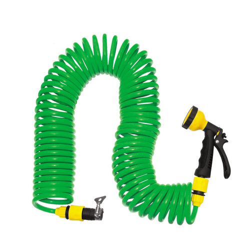 Coiled Wash Down Hose with Flexible Nozzle  BabuBunny