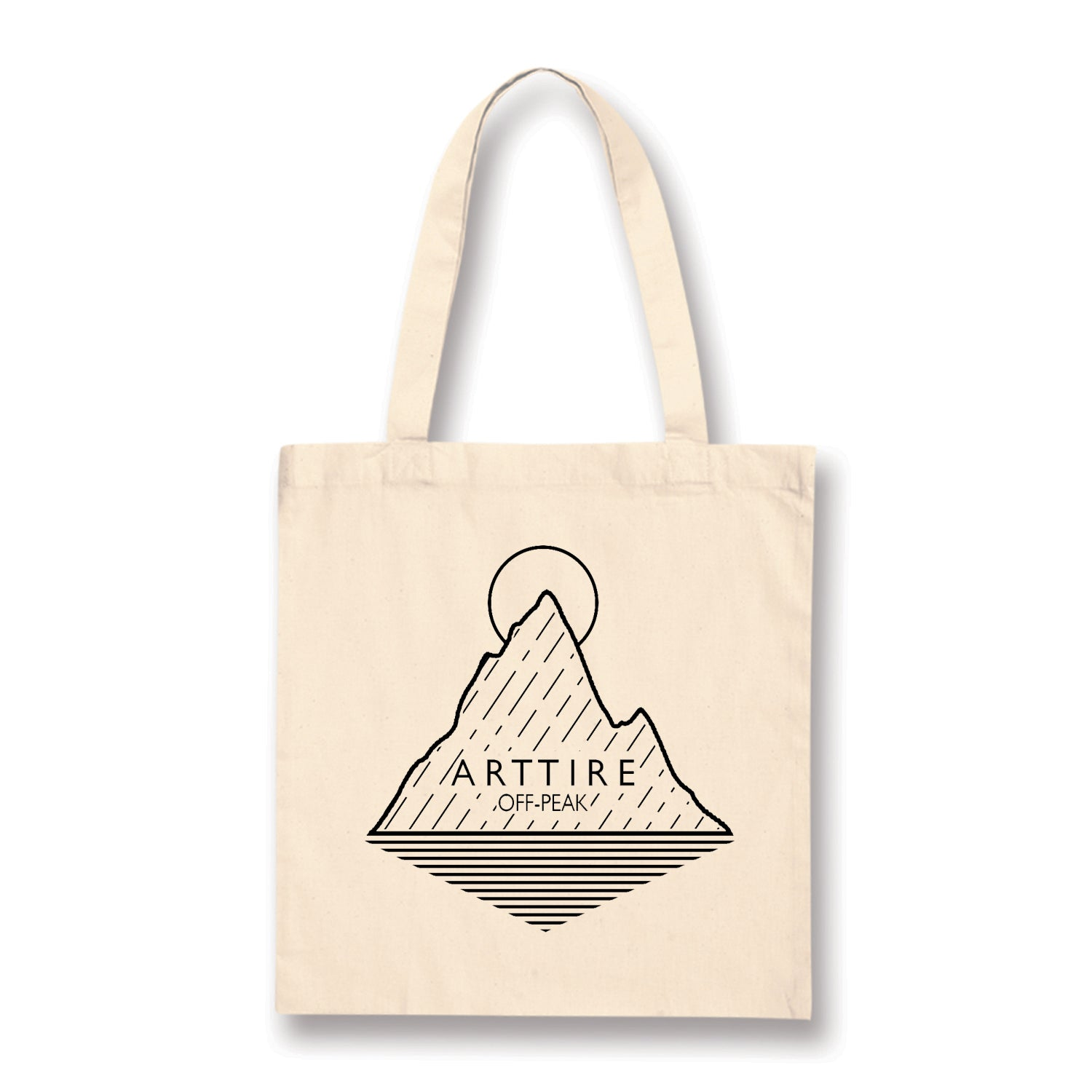 Cream Mountain Tote Bag