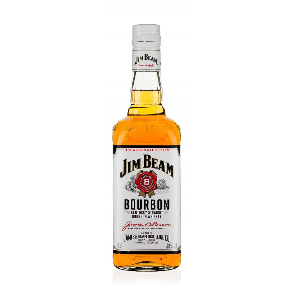 Passed down through seven generations, Jim Beam still use the same trusted distillation process devised by the original creator, Jacob Beam over 215 years ago. Russet in tone, its appearance matches all of the flavours involved in production. It has a rich woody taste with undertones of vanilla, caramel and spice. Jim Beam White is a great introduction to Bourbon. Try mixing it in an Old Fashioned.