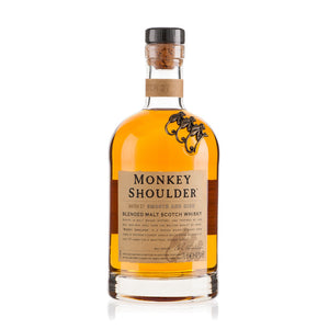 A blend of 3 single malts, hence the 3 monkeys on the shoulder of the bottle, Monkey Shoulder is a premium, triple vatted malt Whisky designed to attract a younger crowd. It's a sweet, smooth and creamy Scotch and works especially well for the novice Whisky drinker who wants to get a taste for the wee dram. Fabulous in a Rusty Nail or just add a splash of cool water and keep it simple.
