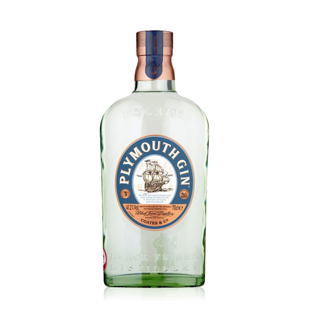 Plymouth Gin is produced at Black Friars Distillery in Plymouth, the oldest working distillery in England. Remaining loyal to the original recipe created in 1793, this wonderful spirit is distilled from a blend of seven botanicals, soft Dartmoor water and pure grain alcohol. Look out for the hint of coriander and cardamom and wait for the sweet bite of juniper and citrus. It's ideal when kept simple. We recommend serving Plymouth Gin with tonic water over ice and a squeeze of lemon or lime.