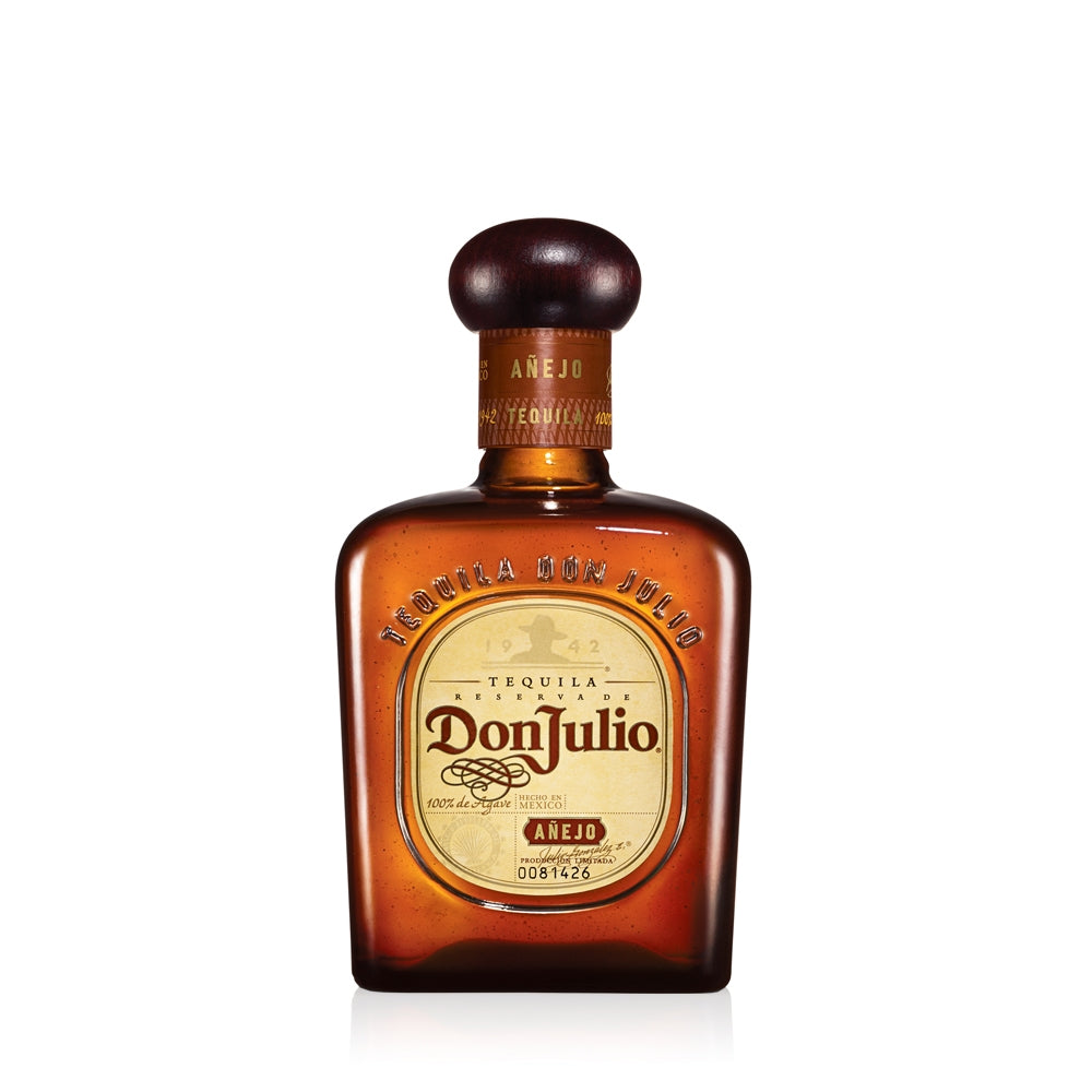 Aged inside white oak barrels for 18 months prior to bottling, the Don Julio Anejo is created in smaller batches to guarantee a richer and more distinctive taste. This is an intricate and mature Tequila. Look out for the flavour of agave and butterscotch and the aroma of citrus fruits and caramel. Have it neat, on the rocks or in a Margarita cocktail.