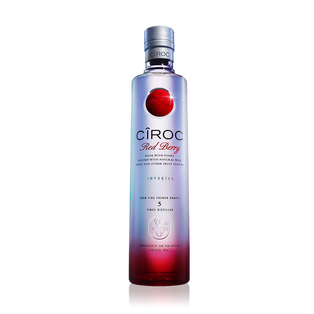 Cîroc® Red Berry™ starts with Cîroc® Ultra-Premium Vodka, the first vodka ever to be produced from grapes in France. Distilled five times to ensure high quality, the vodka is then blended with fresh raspberries and blackberries. The blending of luscious berry flavours makes this the perfect addition to a cocktail or can be enjoyed on the rocks.