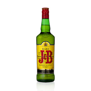 J&B is a truly versatile blended Whisky, which was created after Prohibition to give Americans something palatable to drink after illegal moonshine. Great value and a really balanced fruity taste results in a resoundingly successful Whisky. Mix J&B with anything from an ordinary soda to a Rob Roy.