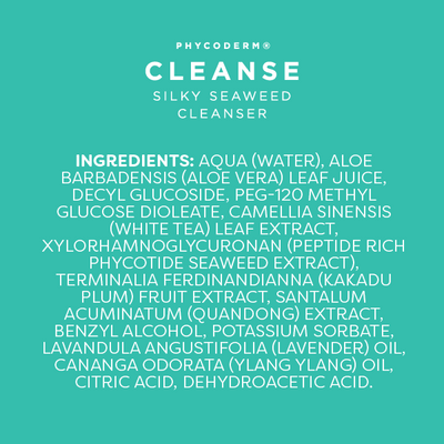 NEW - PhycoDerm CLEANSE | seaweed facial cleanser with Kakadu Plum
