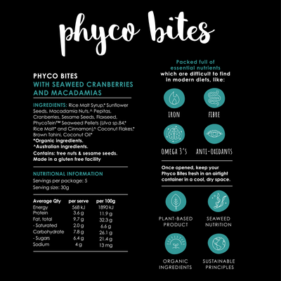 PHYCOBITES | seaweed granola snacks for any time