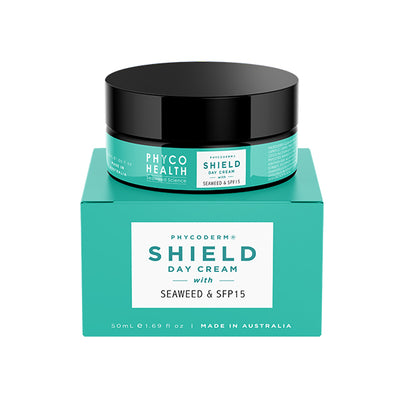 NEW - PhycoDerm SHIELD|protective seaweed hydration cream with SPF15