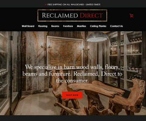 reclaimeddirect.com home page