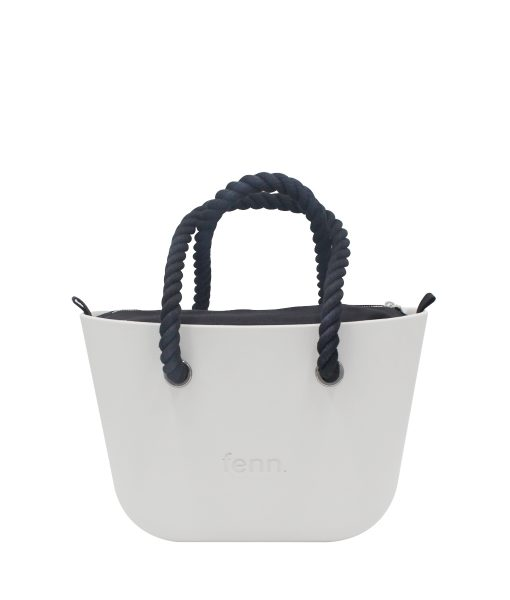 Petite LIGHT GREY with black canvas inner and black rope handles