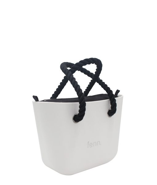 LIGHT GREY with black canvas inner and black rope handles