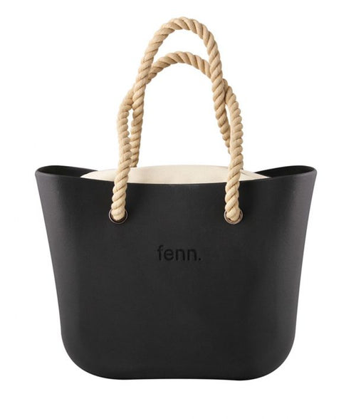 Original BLACK with beige canvas inner and rope handles