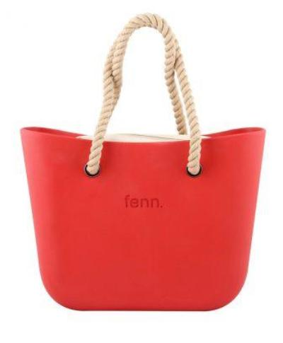 Original RED with beige canvas inner and rope handles