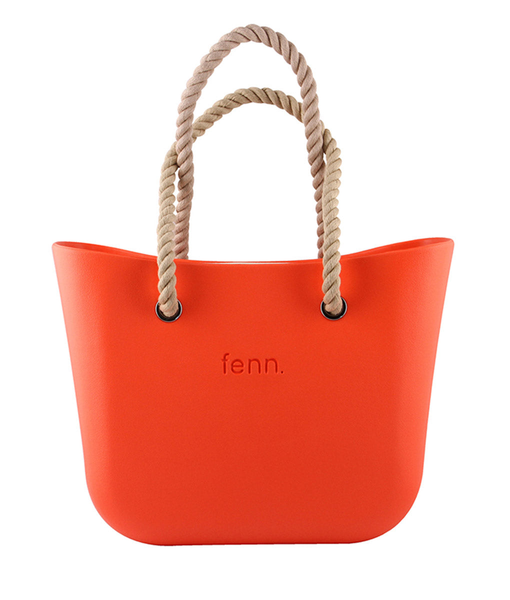 Original ORANGE with beige canvas inner and rope handles