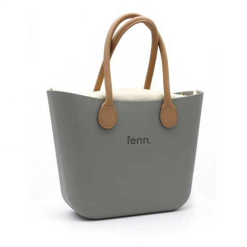 Original OLIVE GREEN with beige canvas inner and tan handles