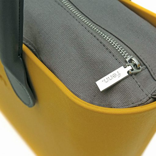 Original MUSTARD YELLOW with charcoal canvas inner and charcoal handles