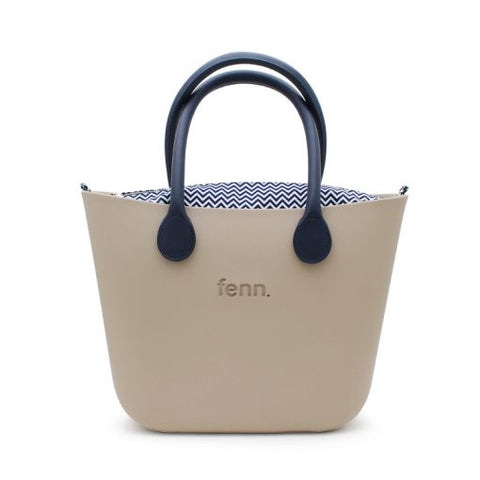 Original NAVY with beige canvas inner and rope handles