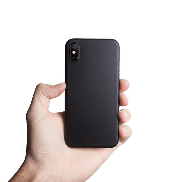Ultra tyndt iPhone XS 5,8 cover  - Solid black