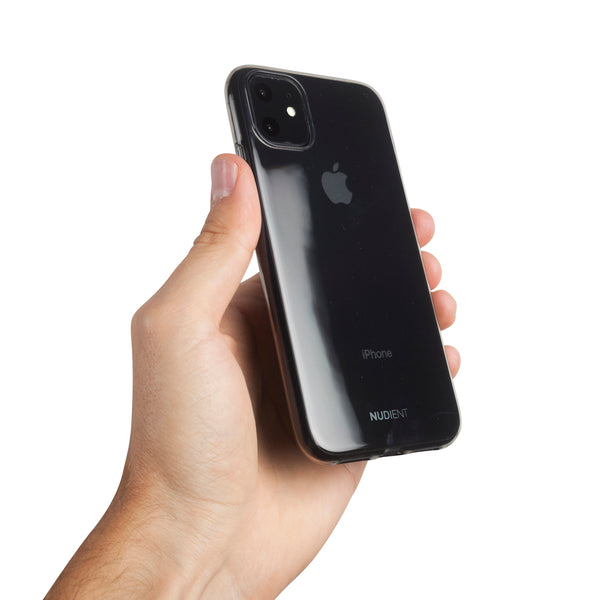 "Tyndt blankt iPhone 11 6,1"" cover - Black transparent"