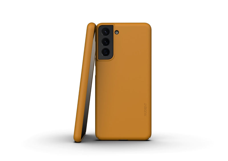 Nudient - Tyndt Samsung S21 Cover V3 - Saffron Yellow