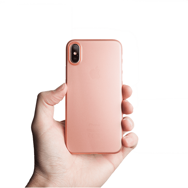 Ultra tyndt iPhone XS cover - Rose