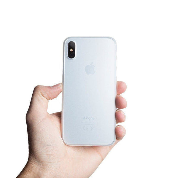 Ultra tyndt iPhone XS 5,8 cover  - Frosted transparent