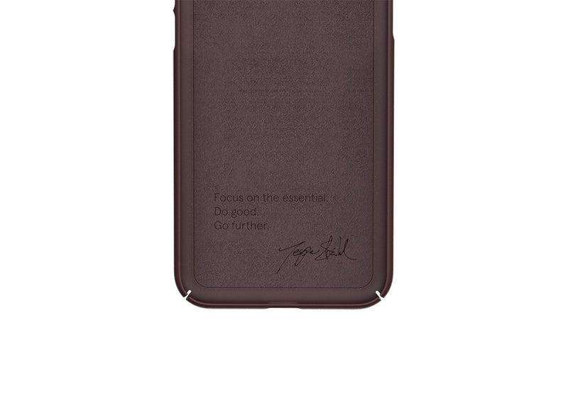Nudient - Tyndt iPhone XS Cover V3 - Sangria Red