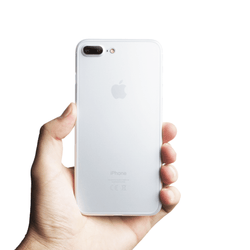 Ultra tyndt iPhone 7 plus cover - Frosted transparent