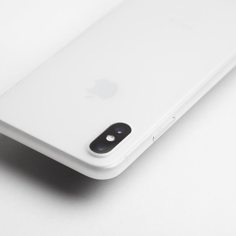 Ultra tyndt iPhone X cover - Frosted transparent