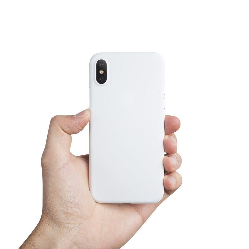 Ultra tyndt iPhone X cover - Solid white